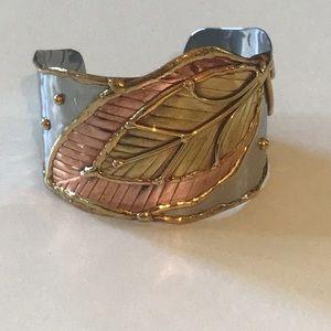 Metal Leaf Bracelet